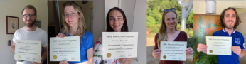 Congratulations to our 2020 Education Program volunteer awardees! From left to right: Jeff Self, Sarah Innes-Gold, Veronica Reynolds, Nicole Michenfelder-Schauser and Bretton Fletcher.